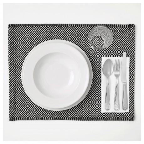 Салфетка под приборы ГОДДАГ черный, белый фото 2
