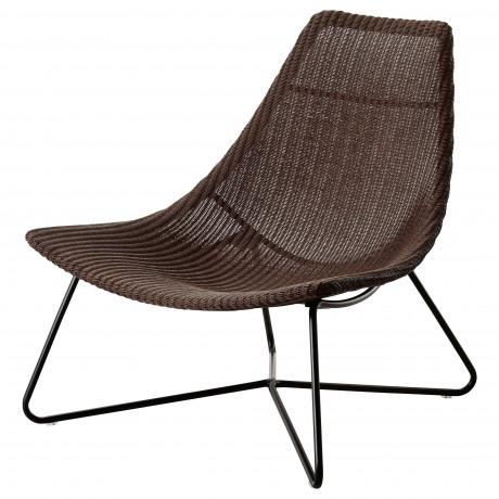 Кресло РОДВИКЕН темно-коричневый, черный фото 0