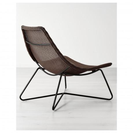 Кресло РОДВИКЕН темно-коричневый, черный фото 2