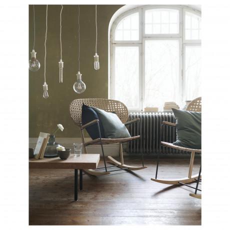 Кресло-качалка ГРЁНАДАЛЬ серый, естественный фото 1