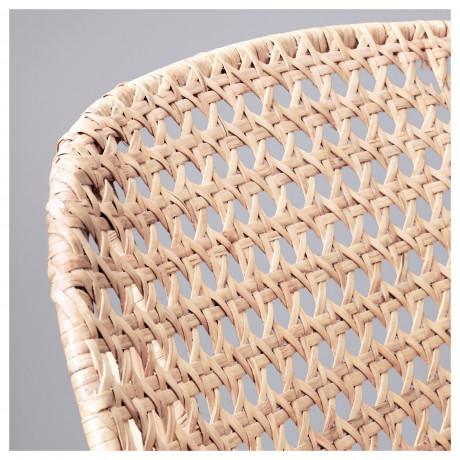 Кресло-качалка ГРЁНАДАЛЬ серый, естественный фото 2