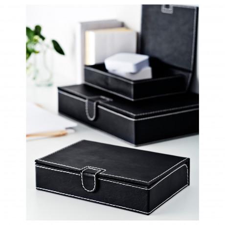 Коробка д/документов, 3 шт. РИССЛА черный фото 1