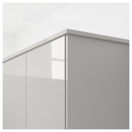 Карниз декоративный закругленный РИНГУЛЬТ глянцевый светло-серый фото 2