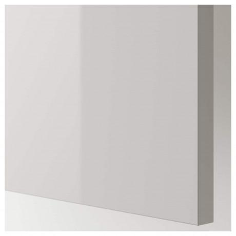 Накладная панель РИНГУЛЬТ глянцевый светло-серый фото 1