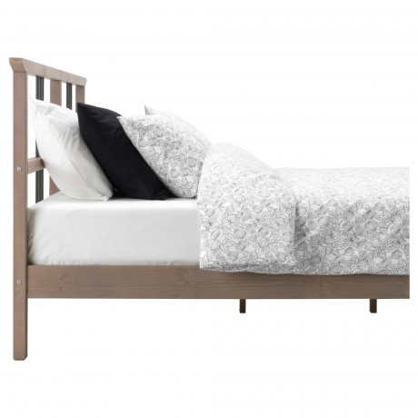 Каркас кровати РИКЕНЕ серо-коричневый фото 2