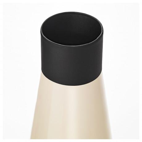 Набор ваз,2 штуки ГЛИТРИГ слоновая кость, черный фото 2