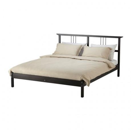 Каркас кровати РИКЕНЕ черно-коричневый, Лурой фото 0