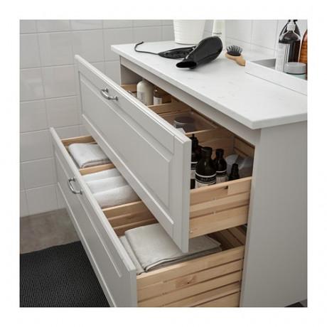 Шкаф для раковины с 2 ящ ГОДМОРГОН / ТОЛКЕН светло-серый фото 2