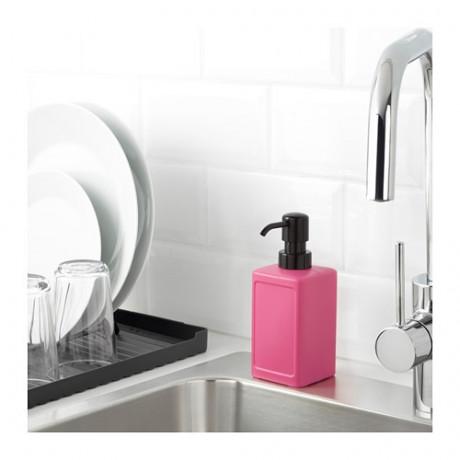 Дозатор для жидкого мыла РИННИГ розовый фото 1