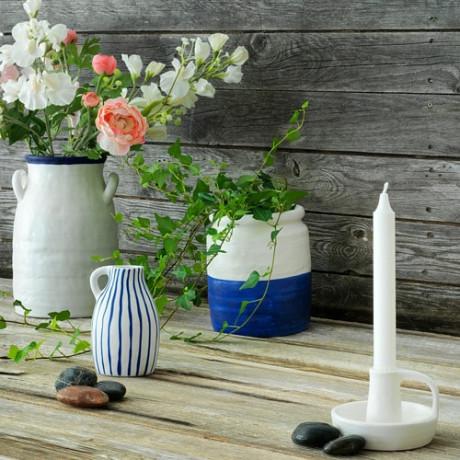 Ваза ГОДТАГБАР керамика белый/синий фото 1
