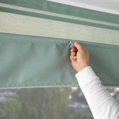 Римская штора РИНГБЛУММА зеленый фото 1