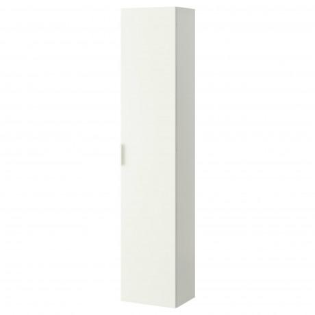 Шкаф высокий ГОДМОРГОН белый фото 5