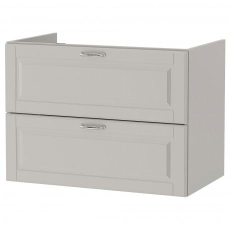 Шкаф для раковины с 2 ящ ГОДМОРГОН Кашён светло-серый фото 2